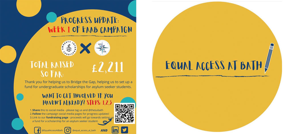 Second-year student and chair of 'Equal Access at Bath', Charlotte Foster, studying at the University of Bath is working tirelessly with her fellow students to raise money for asylum seekers.
