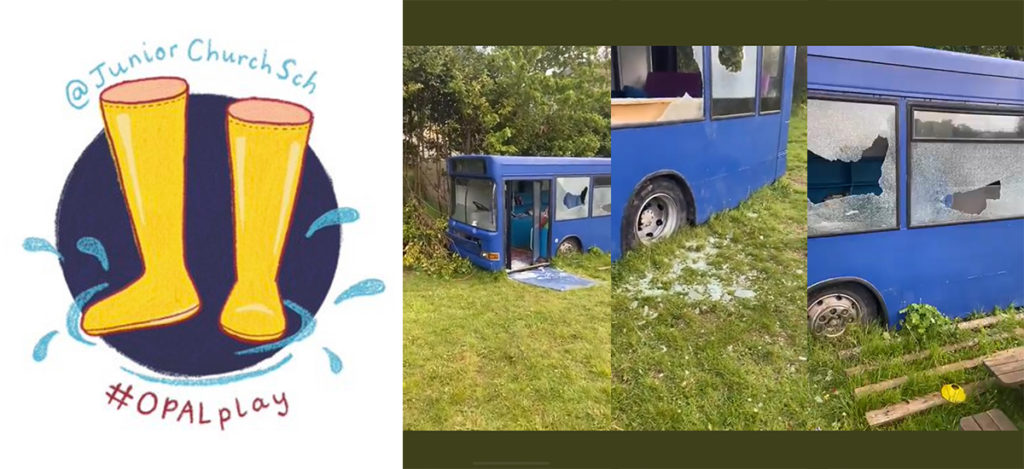 First Bus donated to the children at St. Michael's Junior Church School for play use utterly destroyed by vandals over the bank holiday weekend. Headteacher – Claire Greene tells us more.