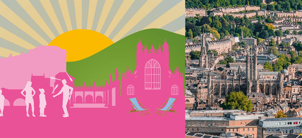 Bath's Business Improvement District reports record footfall in the city, and encourages people to return to the streets and make the most of all that Bath has to offer.