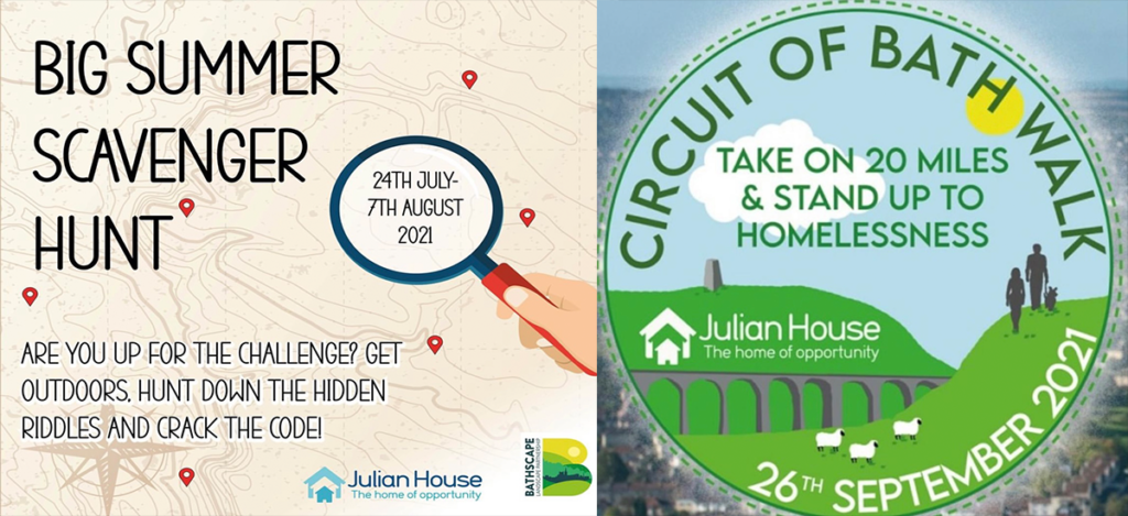 'What is something you don't own but you can give to anyone you meet? – Charity Julian House launches family-friendly 'Code Breaker' scavenger hunt to raise funds for Bath's vulnerable.